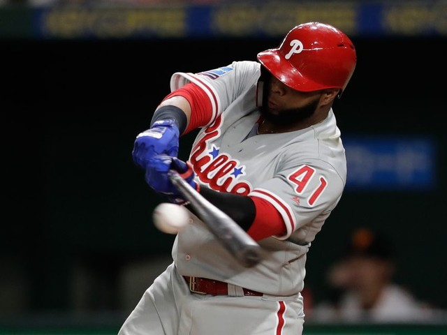 Carlos Santana smashed a TV with a bat to get his Phillies teammates to stop playing 'Fortnite'