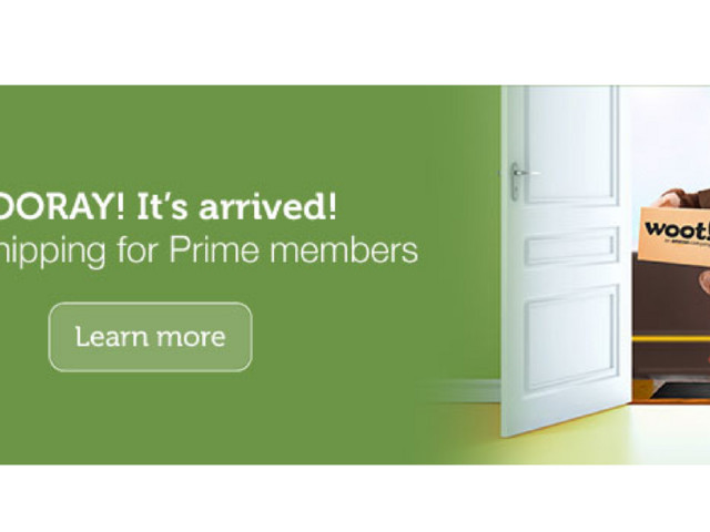 Woot Deal: FREE Shipping for Amazon Prime Members