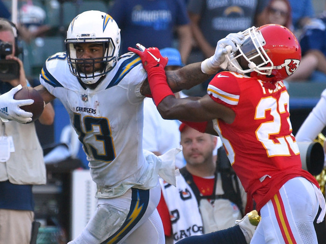 Chargers WR Keenan Allen gets to see Chiefs' new secondary up close