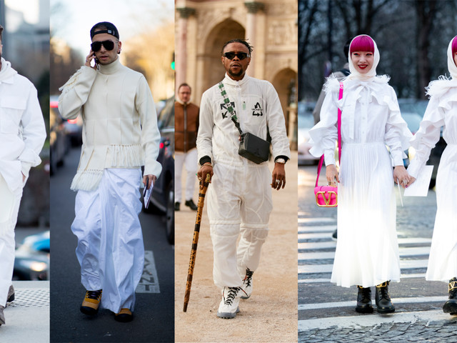 All-White Looks Were a Street Style Favorite at Paris Fashion Week Men's