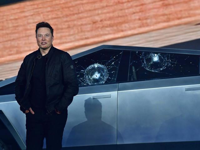 Elon Musk unveils Cybertruck at Tesla event, but 'bulletproof' window test is a bust