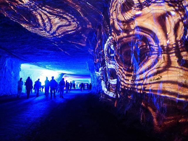 Interdisciplinary Festival Experiments with Art, Music in Limestone Mine