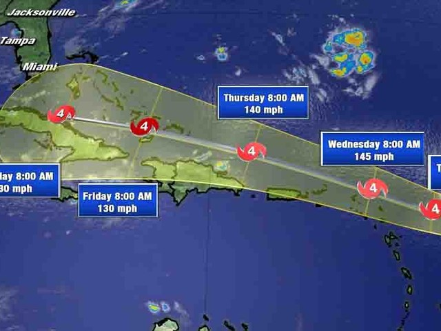 Florida Declares State Of Emergency As Category 4 Hurricane Irma Barrels Straight For Miami