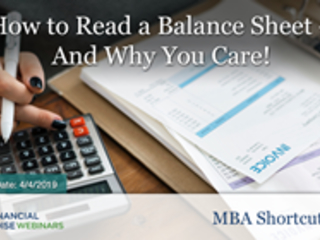 "Financial Poise™ Announces ""How to Read a Balance Sheet – And Why..."