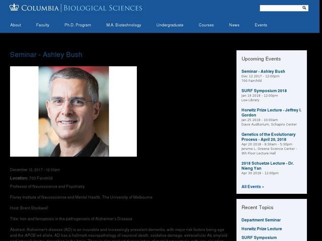 Seminar - Ashley Bush