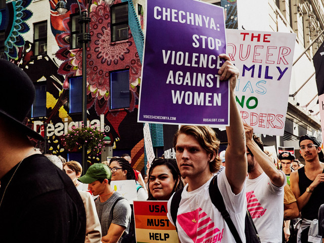 Scenes From the Voices 4 Chechnya March in New York