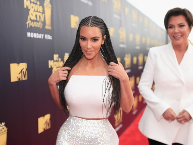 Kim Kardashian's Braids At The MTV Movie Awards Spur A Conversation On Cultural Appropriation