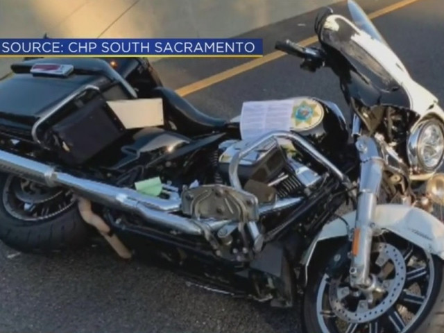 CHP Officer Thrown From Motorcycle In Crash Expected To Survive