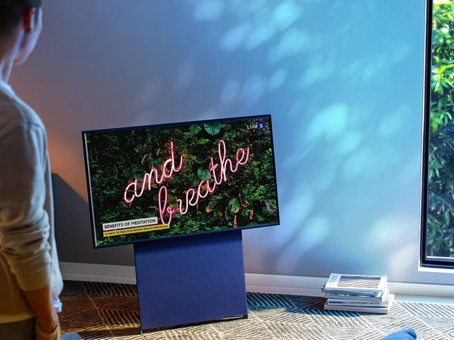 Samsung just revealed a new rotating TV that's like a giant smartphone for your living room