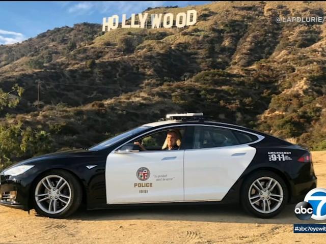 Los Angeles Police Department breaks in new cruiser, environmentally conscious Tesla