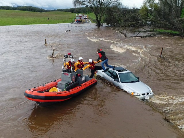 California storm moves on after forcing flood rescues
