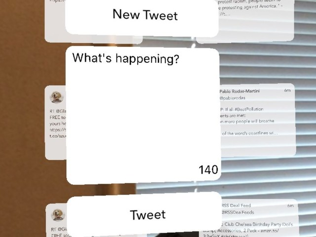 You can now use Twitter in augmented reality, in case your life isn't bleak enough