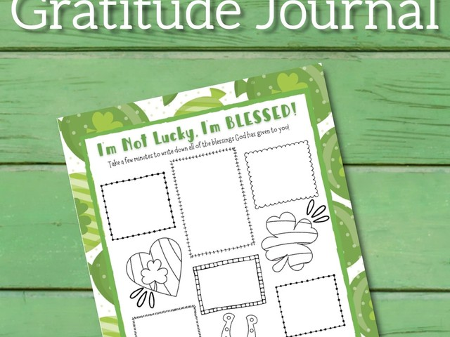 St. Patrick's Day Kids Journal