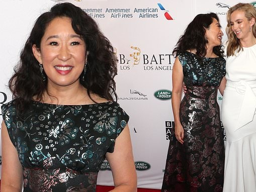 Sandra Oh reunites with Killing Eve co-star Jodie Comer at BAFTA LA Tea Party ahead of the Emmys