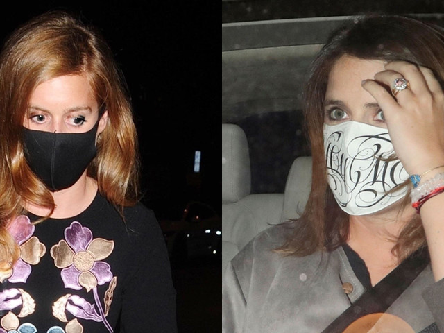 Princess Beatrice & Princess Eugenie Wear Face Masks for Night Out Together!
