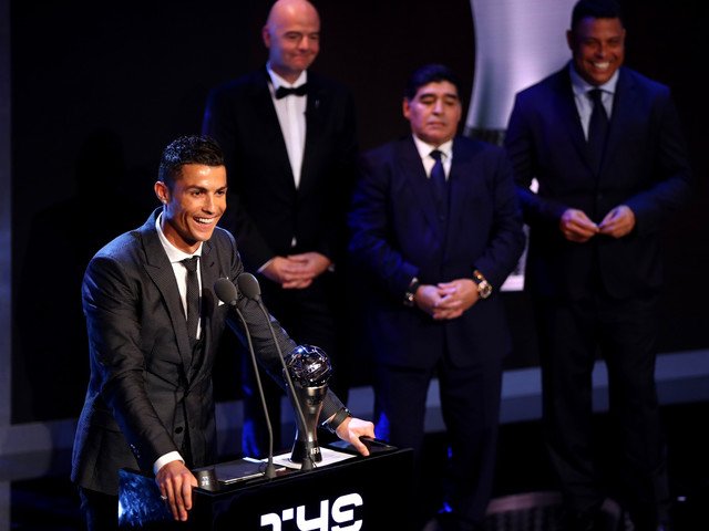 Ronaldo Wins FIFA Player Of Year For 5th Time