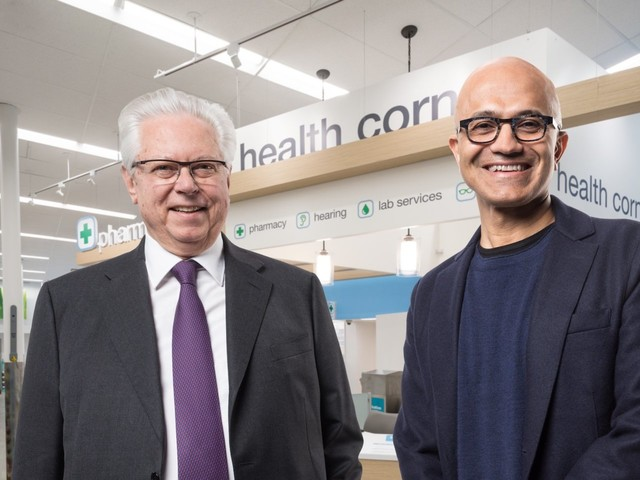 Walgreens is forging alliances with tech giants like Microsoft as it prepares for war with Amazon (WBA, MSFT)