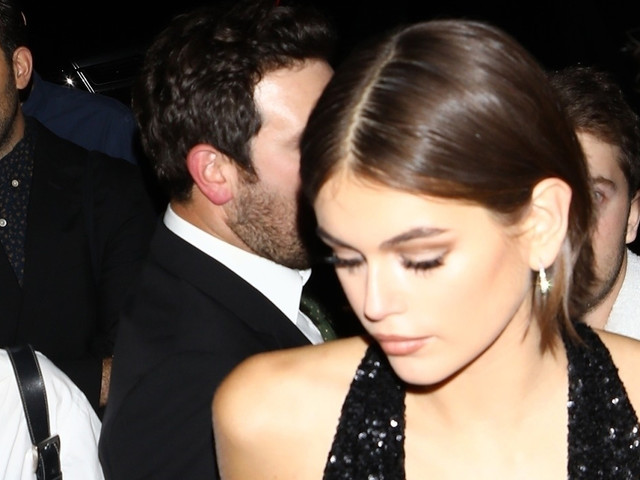 Kaia Gerber Sparkles in Black Dress for Grammys After-Party!