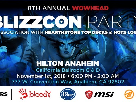 Wowhead BlizzCon 2018 Party RSVP - October 16th Deadline for Special RSVP Rewards