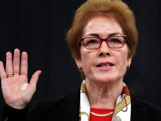 Key witness in the impeachment inquiry Marie Yovanovitch retires from the State Department after being ousted following an apparent smear campaign
