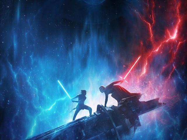 Palpatine Looms Over Rey, Kylo Ren in New Rise of Skywalker Poster