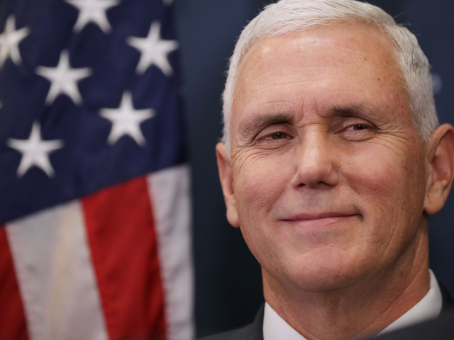 Pence channels Charlie Sheen in tweet celebrating NFL anthem policy