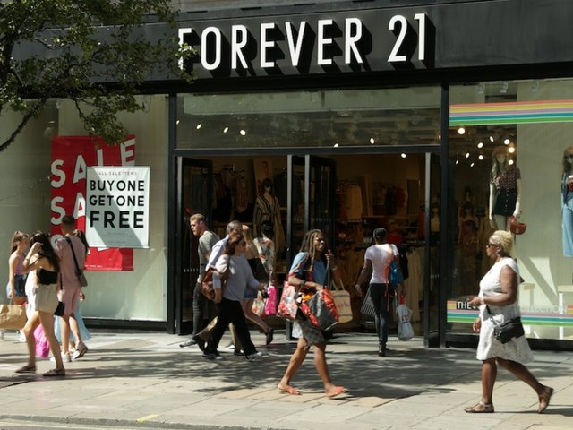 Forever 21, once among America's fastest growing fast-fashion retailers, files for bankruptcy