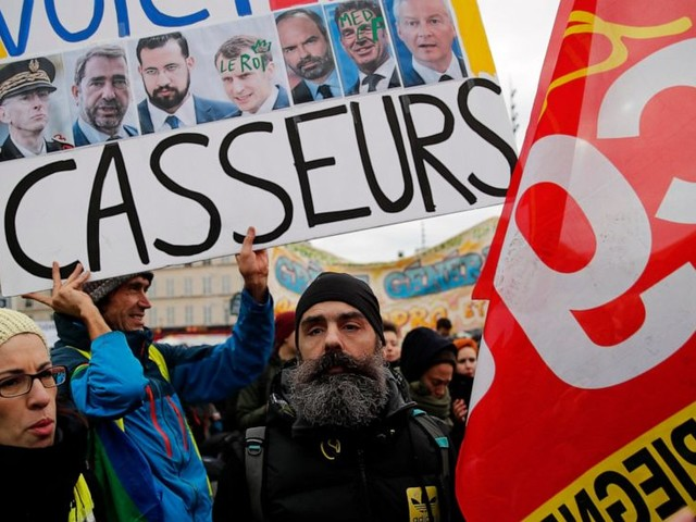 Tensions as yellow vests join French retirement protests
