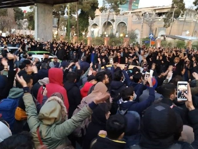 Powerful videos show angry Iranian protesters flood streets of Tehran over downed jet: 'Death to the dictator'