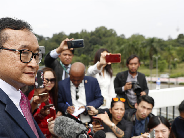 Cambodia's opposition leader in Indonesia plotting next move