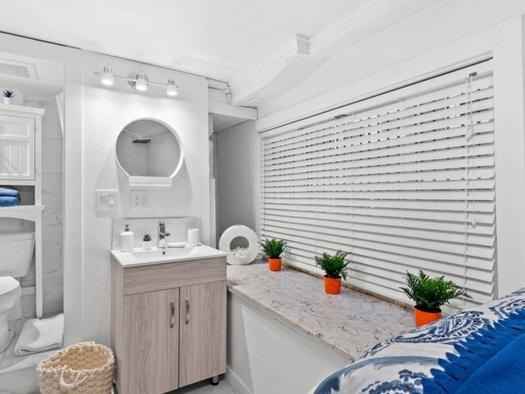 """""""Micro-Studio"""" Listed In Vancouver Is A Bathroom With Bed"""