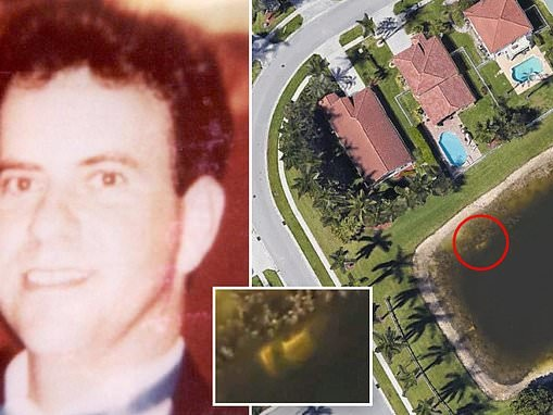 Skeletal remains of man missing since 1997 found in Florida pond in vehicle visible on Google Earth