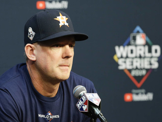 Astros fire manager, GM after MLB suspension