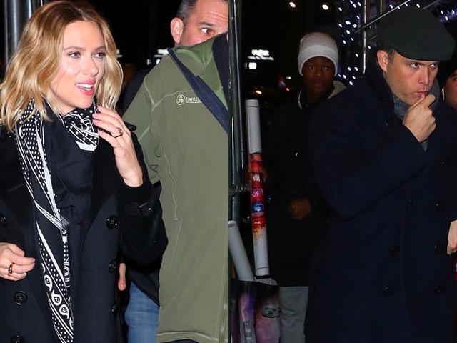 Scarlett Johansson & Fiance Colin Jost Attend 'Saturday Night Live' After-Party