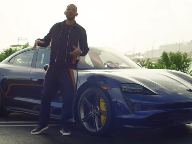 Bad Boys For Life's Will Smith Gives Strangers A Lyft In Electric Porsche Taycan Turbo S