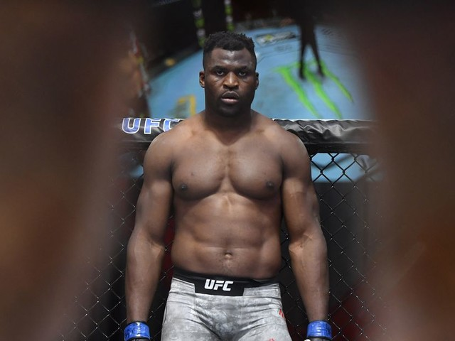 Ngannou reacts to Gane's win at UFC 265