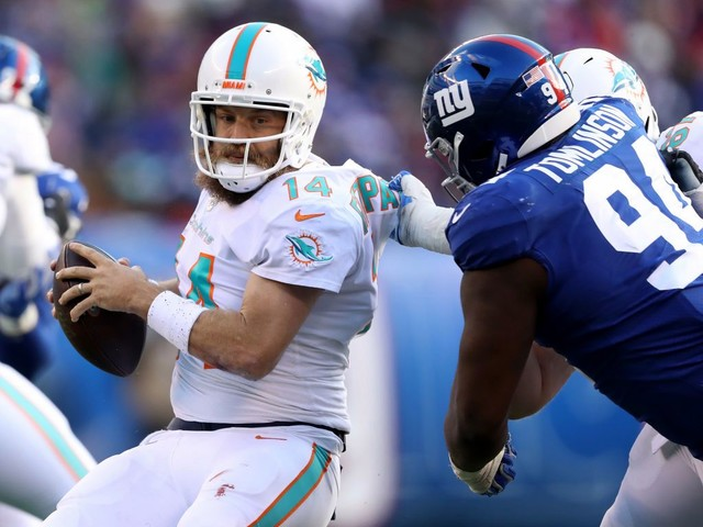 Dolphins Suffer Second Straight Road Loss, Falling 36-20 To Giants