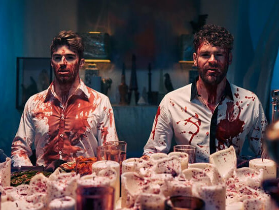 """The Chainsmokers Host A Bloody Dinner Party In Their """"You Owe Me"""" Video"""