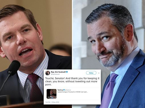 Ted Cruz has the last laugh in Congressman Eric Swalwell's fartgate scandal with Steve Martin clip