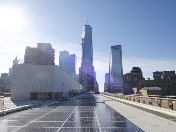 BMCC Rooftop Now Home to Manhattan's Largest Public Solar Panel Project