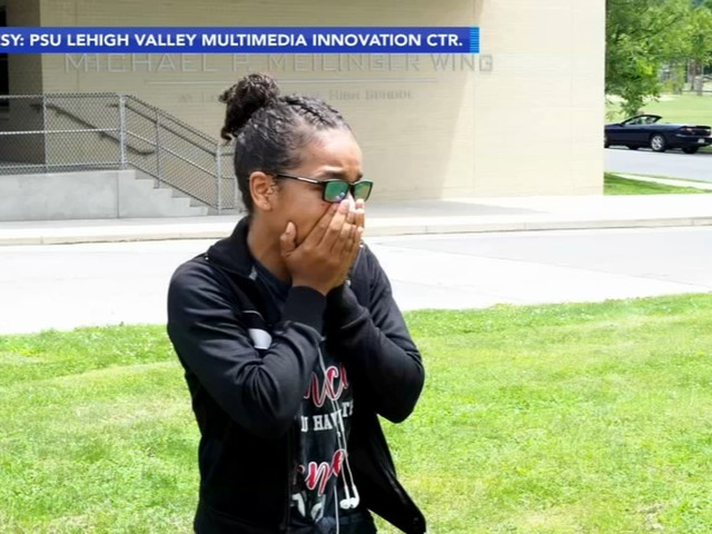 'Is that red?' Video shows emotional moment color blind high school grad sees through glasses