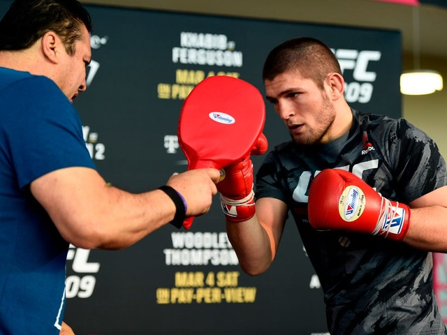 WATCH: Khabib Nurmagomedov Shows How to Work on a Punching Bag in a New Video