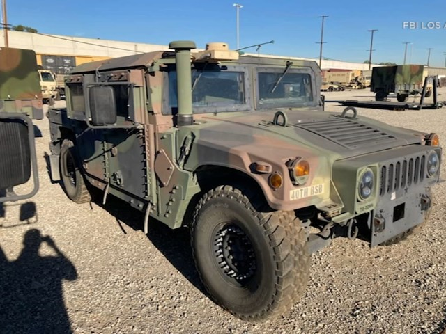FBI searching for armored military Humvee stolen from California National Guard facility