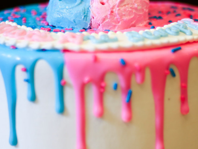 It's a Girl! It's a Boy! And for the Gender-Reveal Cake, It May Be the End