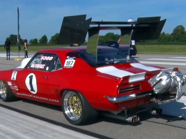 Whoa, Check Out That 9.0-liter Supercharged 1969 Camaro's Rear Wing!