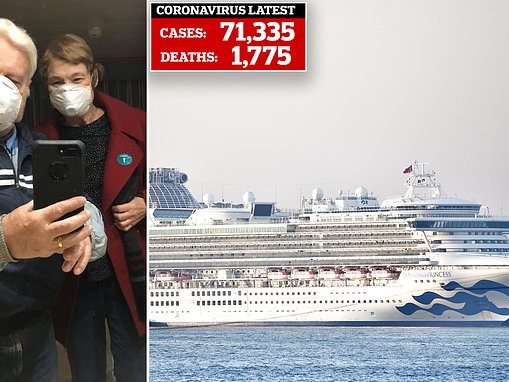 US cruise passenger separated from wife on ship in Japan when she tests positive for coronavirus