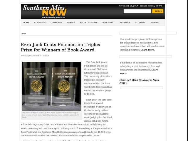 Ezra Jack Keats Foundation Triples Prize for Winners of Book Award