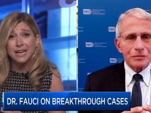 CNBC host confronts Dr. Fauci about breakthrough cases and why the CDC no longer tracks them