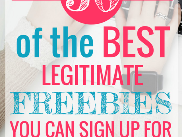 50 of the Best Freebies You Can Sign Up For Right Now!