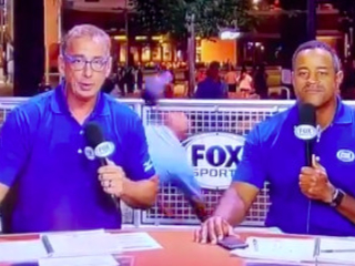 This video of a security guard falling during the Braves' post-game show has so many layers